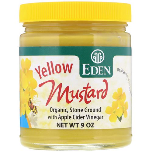 Eden Foods, Yellow Mustard, 9 oz فوائد
