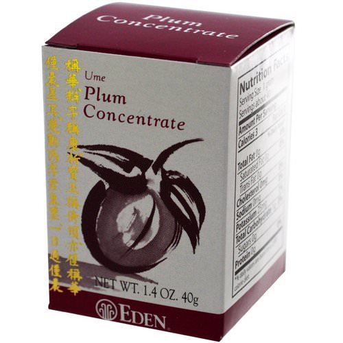 Eden Foods, Ume Plum Concentrate, 1.4 oz (40 g) فوائد