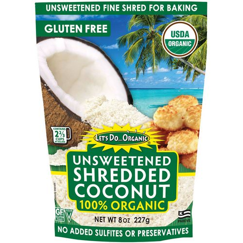 Edward & Sons, Let's Do Organic, 100% Organic Unsweetened Shredded Coconut, 8 oz (227 g) فوائد