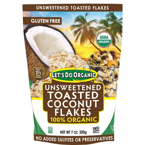 Edward & Sons, Let's Do Organic, 100% Organic Unsweetened Toasted Coconut Flakes, 7 oz (200 g) فوائد
