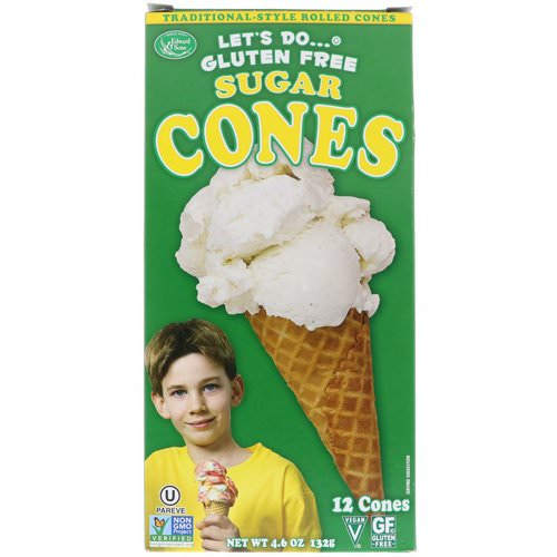 Edward & Sons, Let's Do Organic, Gluten Free Sugar Cones, 12 Cones, 4.6 oz (132 g) فوائد
