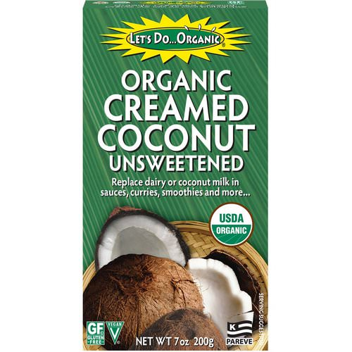 Edward & Sons, Let's Do Organic, Organic Creamed Coconut, Unsweetened, 7 oz (200 g) فوائد