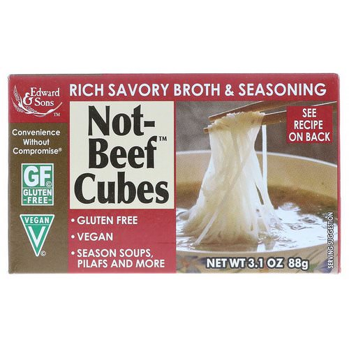 Edward & Sons, Not-Beef Cubes, 3.1 oz (88 g) فوائد