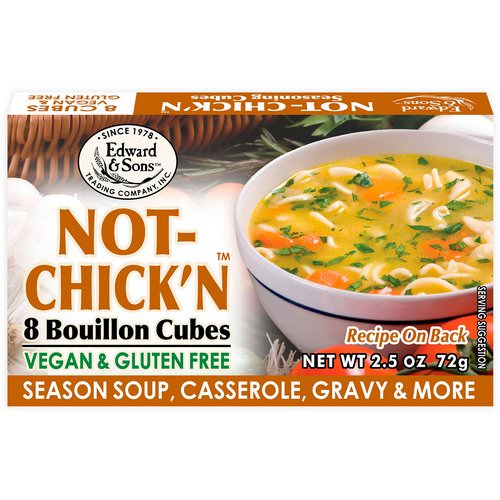 Edward & Sons, Not-Chick'n, Bouillon Cubes, 8 Cubes فوائد