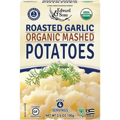 Edward & Sons, Organic Mashed Potatoes, Roasted Garlic, 3.5 oz (100 g) فوائد