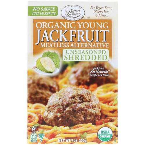 Edward & Sons, Organic Young Jackfruit, Unseasoned Shredded, 7 oz (200 g) فوائد