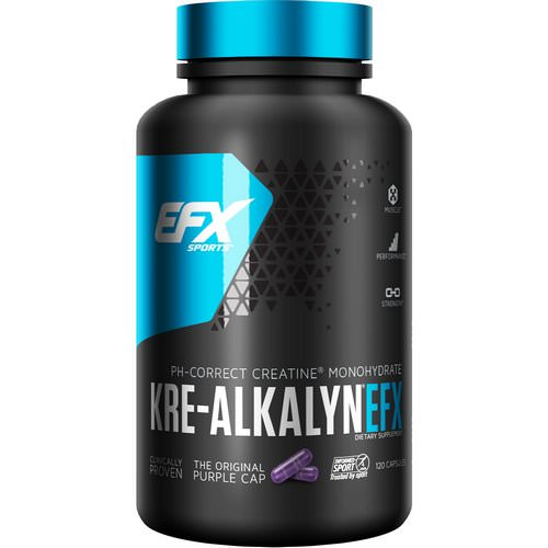 EFX Sports, Kre-Alkalyn EFX, 120 Capsules فوائد