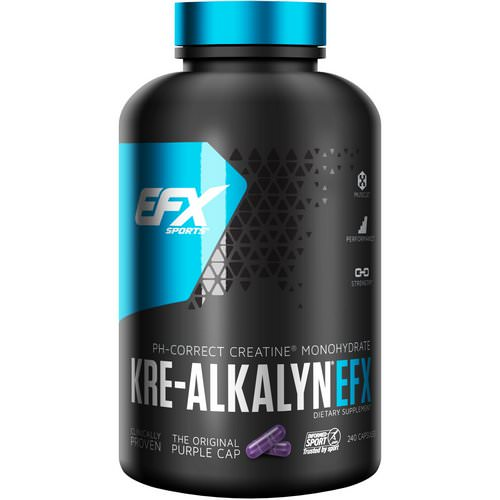EFX Sports, Kre-Alkalyn EFX, 240 Capsules فوائد