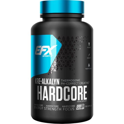 EFX Sports, Kre-Alkalyn Hardcore, 120 Capsules فوائد
