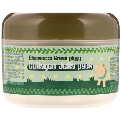 Elizavecca, Green Piggy, Collagen Jelly Pack, 3.53 oz (100 g) فوائد