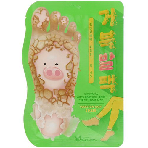 Elizavecca, Witch Piggy, Hell-Pore, Turtle's Foot Pack, 1 Pair, 1.41 oz (40 g) فوائد