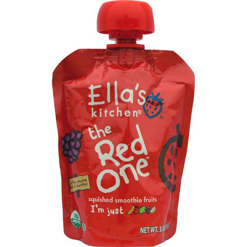 Ella's Kitchen, The Red One, Squished Smoothie Fruits, 3 oz (85 g) فوائد