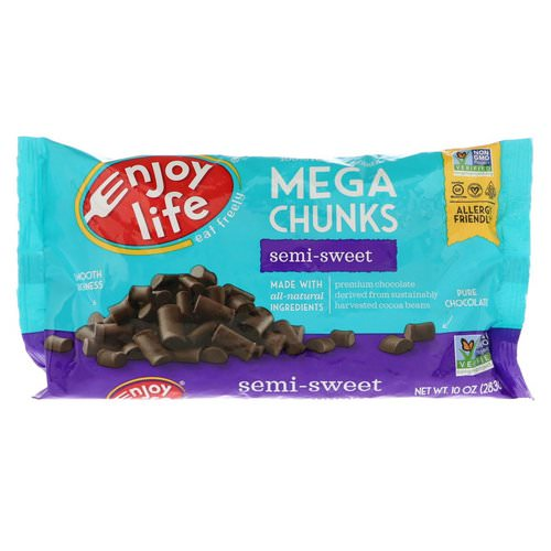 Enjoy Life Foods, Mega Chunks, Semi-Sweet Chocolate, 10 oz (283 g) فوائد