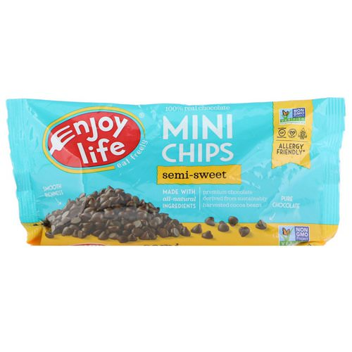 Enjoy Life Foods, Mini Chips, Semi-Sweet Chocolate, 10 oz (283 g) فوائد