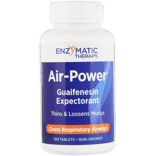 Enzymatic Therapy, Air-Power, Guaifenesin Expectorant, 100 Tablets فوائد
