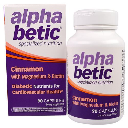 Nature's Way, Alpha Betic, Cinnamon with Magnesium & Biotin, 90 Capsules فوائد