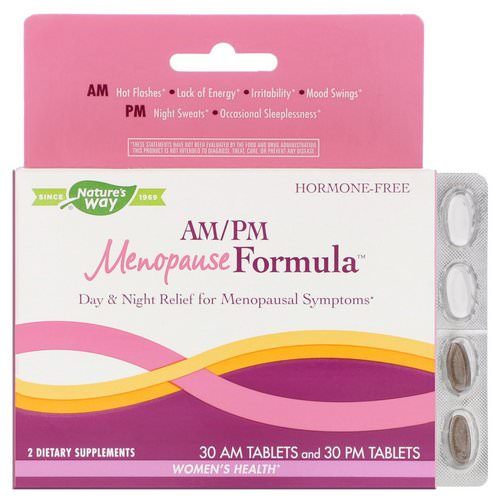 Nature's Way, AM/PM Menopause Formula, Women's Health, 60 Tablets فوائد