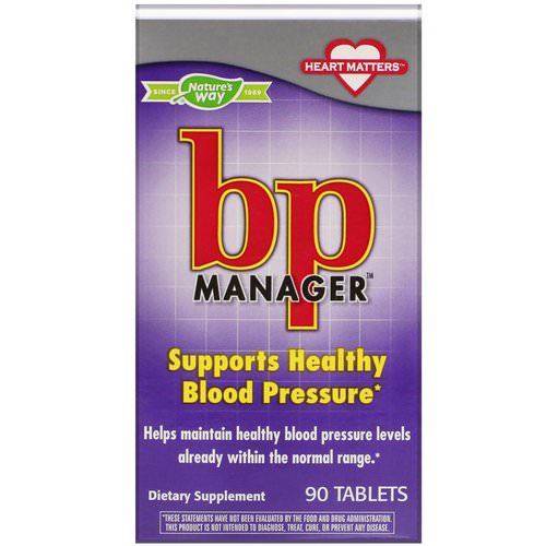 Nature's Way, BP Manager, 90 Tablets فوائد