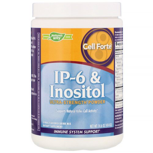 Nature's Way, Cell Forte, IP-6 & Inositol, Ultra Strength Powder, Citrus Flavored, 14.6 oz (414 g) فوائد