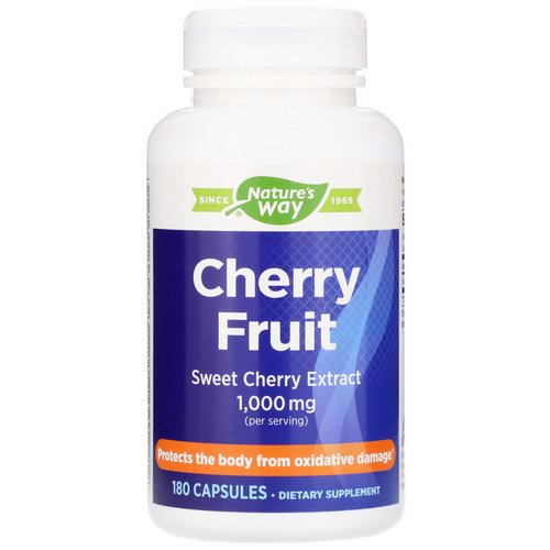 Nature's Way, Cherry Fruit, Sweet Cherry Extract, 1,000 mg, 180 Capsules فوائد