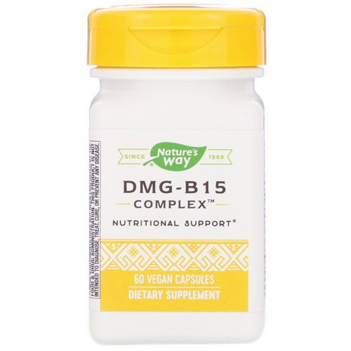 Nature's Way, DMG-B15 Complex, 60 Vegan Capsules فوائد