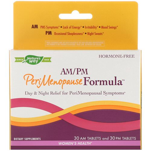 Nature's Way, PeriMenopause Formula, AM/PM, 60 Tablets فوائد