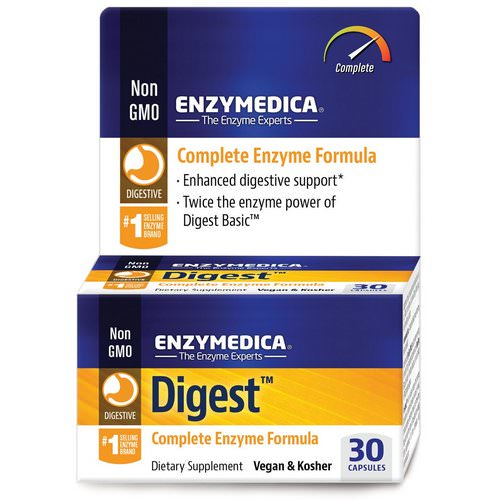 Enzymedica, Digest, Complete Enzyme Formula, 30 Capsules فوائد