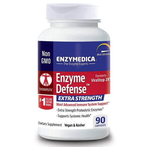 Enzymedica, Enzyme Defense (Formerly ViraStop), Extra Strength, 90 Capsules فوائد