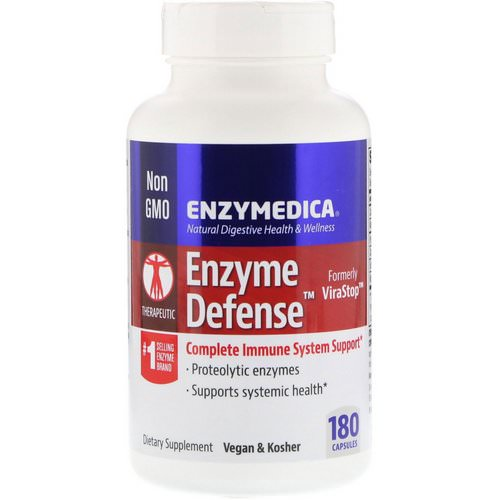 Enzymedica, Enzyme Defense (Formerly ViraStop), 180 Capsules فوائد