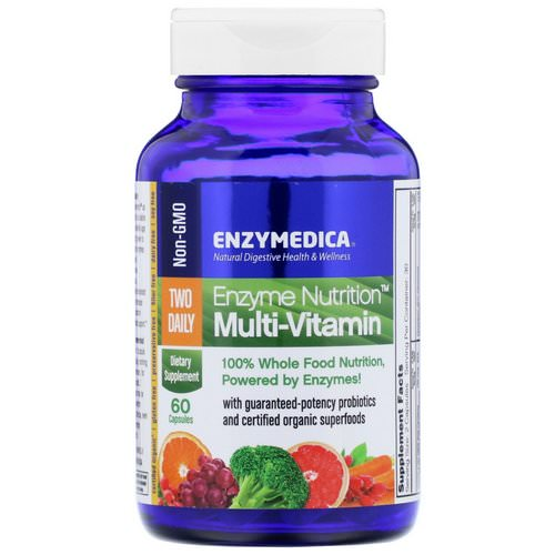 Enzymedica, Enzyme Nutrition Multi-Vitamin, Two Daily, 60 Capsules فوائد