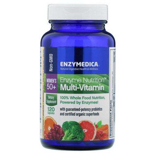 Enzymedica, Enzyme Nutrition Multi-Vitamin, Women's 50+, 120 Capsules فوائد