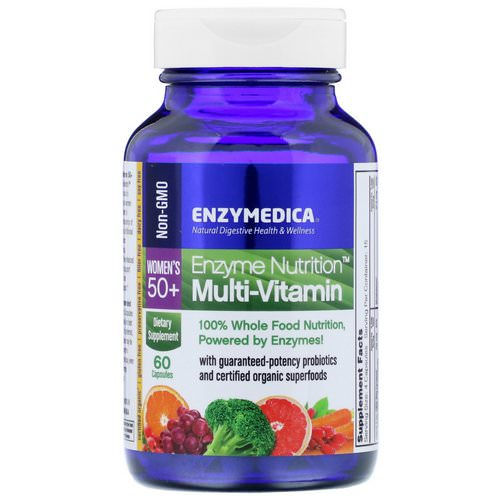 Enzymedica, Enzyme Nutrition, Multi-Vitamin, Women's 50+, 60 Capsules فوائد