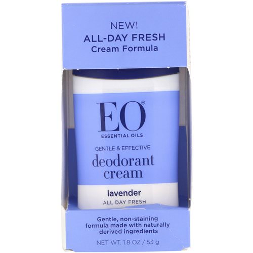 EO Products, Deodorant Cream, Lavender, 1.8 oz (53 g) فوائد