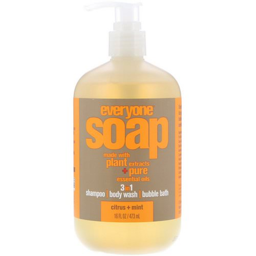 EO Products, Everyone Soap, 3 in 1, Citrus + Mint, 16 fl oz (473 ml) فوائد