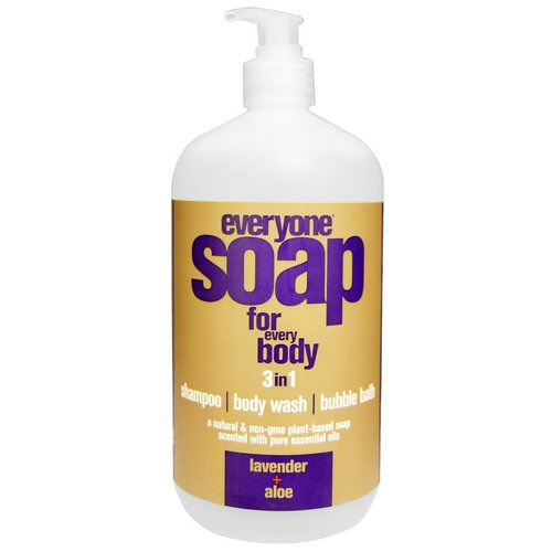 EO Products, Everyone Soap for Every Body, 3 In One, Lavender + Aloe, 32 fl oz (946 ml) فوائد