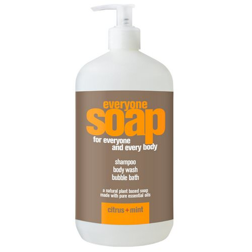EO Products, Everyone Soap for Everyone and Every Body, Citrus + Mint, 32 fl oz (960 ml) فوائد
