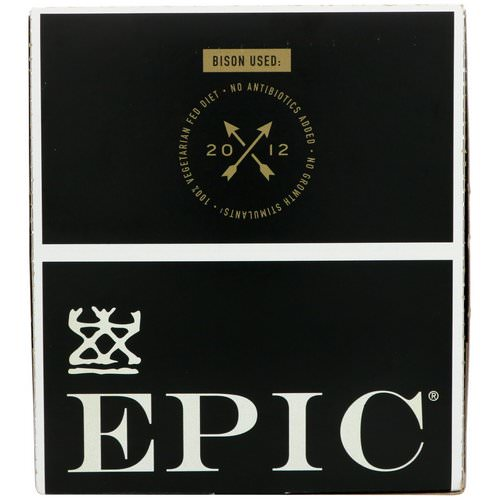 Epic Bar, Bison, Uncured Bacon + Cranberry Bar, 12 Bars, 1.3 oz (37 g) Each فوائد