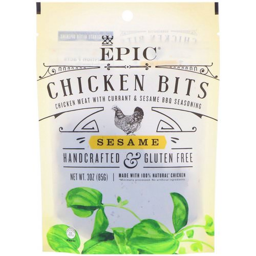 Epic Bar, Chicken Bits, Sesame, 3 oz (85 g) فوائد