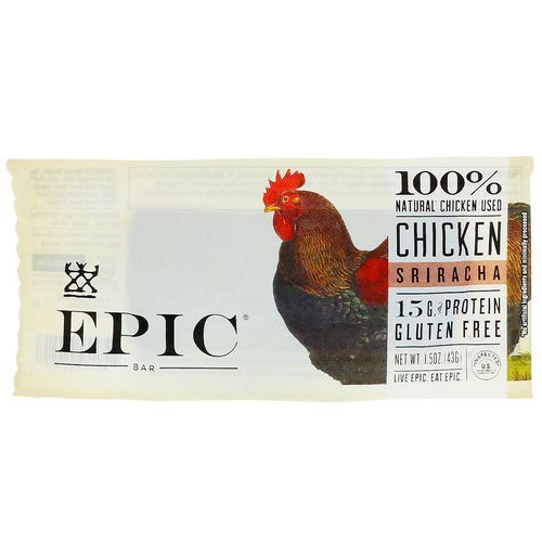 Epic Bar, Chicken Sriracha Bar, 12 Bars, 1.5 oz (43 g) Each فوائد