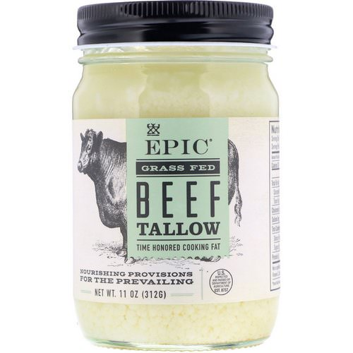 Epic Bar, Grass Fed Beef Tallow, 11 oz (312 g) فوائد