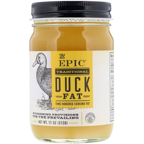 Epic Bar, Traditional Duck Fat, 11 oz (312 g) فوائد