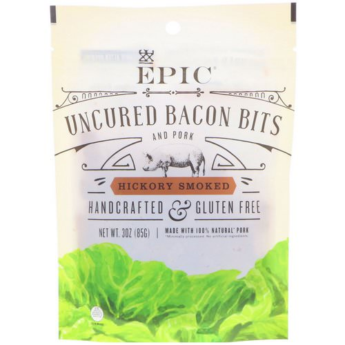 Epic Bar, Uncured Bacon Bits, Hickory Smoked, 3 oz (85 g) فوائد