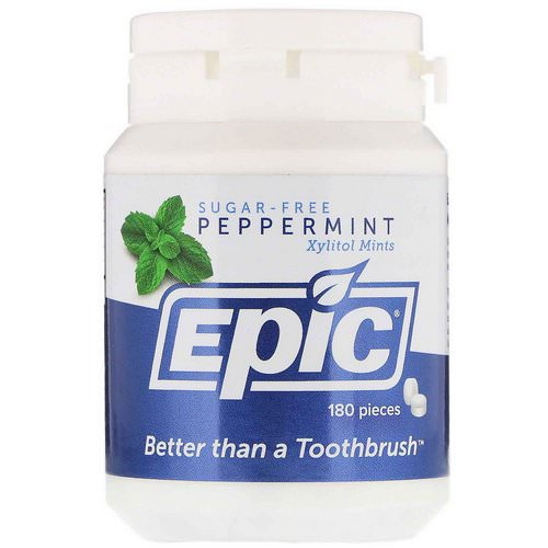Epic Dental, Xylitol Mints, Sugar-Free, Peppermint, 180 Pieces فوائد
