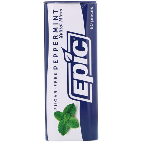 Epic Dental, Xylitol Mints, Peppermint, Sugar-Free, 60 Pieces فوائد