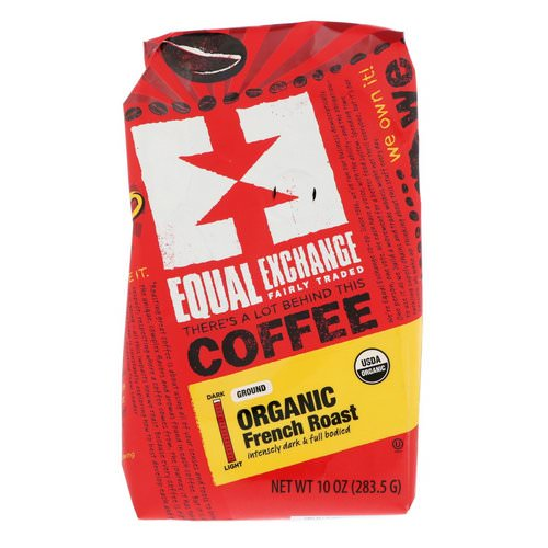 Equal Exchange, Organic, Coffee, French Roast, Ground, 10 oz (283.5 g) فوائد
