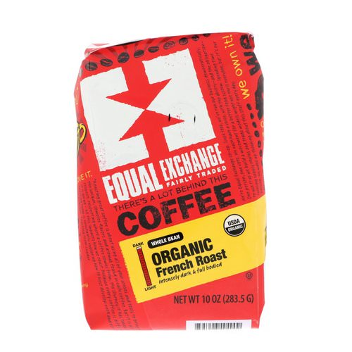 Equal Exchange, Organic, Coffee, French Roast, Whole Bean, 10 oz (283.5 g) فوائد