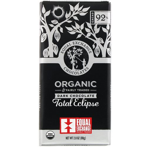 Equal Exchange, Organic Dark Chocolate, Total Eclipse, 2.8 oz (80 g) فوائد