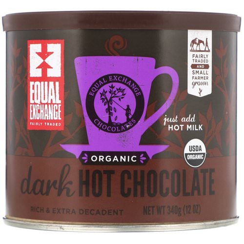 Equal Exchange, Organic Dark Hot Chocolate, 12 oz (340 g) فوائد