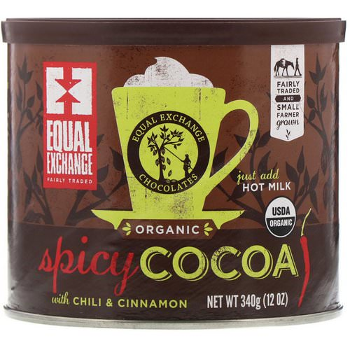 Equal Exchange, Organic, Spicy Cocoa with Chili & Cinnamon, 12 oz (340 g) فوائد