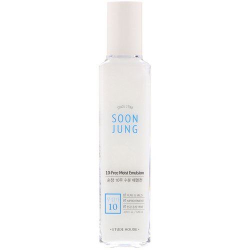 Etude House, Soon Jung, 10-Free Moist Emulsion, 4.05 fl oz (120 ml) فوائد